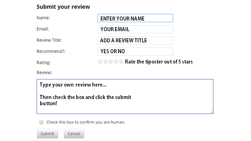 How To Leave Your Own Tipster Reviews