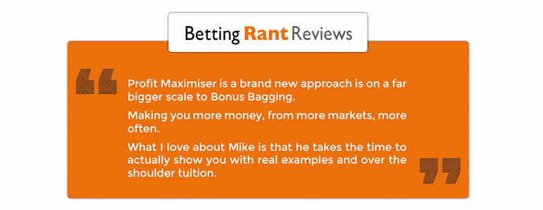 betting rant profit maximiser review