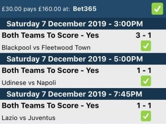 Match Result and Both Teams to Score Bet Explained