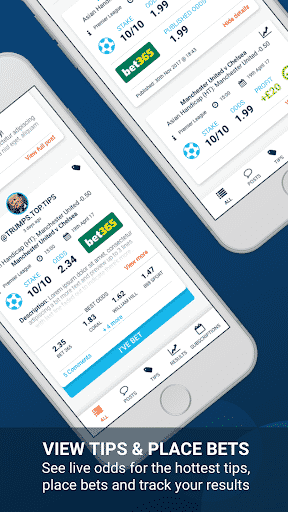 view and place tipsters bets in the app